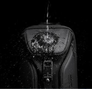 Рюкзак однолямочный Mark Ryden MR7369 черный водоотталкивающий материал