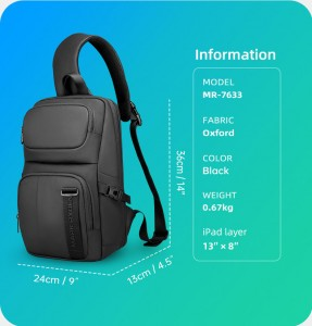 Рюкзак однолямочный для ноутбука 14 дюймов Mark Ryden MR7633
