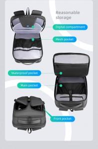 Городской непромокаемый рюкзак для ноутбука MR922 черный