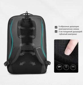 Городской непромокаемый рюкзак для ноутбука MR922 с дышащей анатомической спинкой и лямками