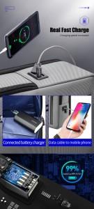 Городской рюкзак BOPAI 61-68118 черно-серый с USB