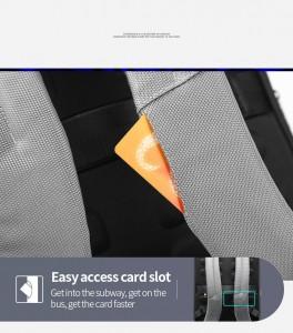 Городской рюкзак BOPAI 61-68118 кармашки для транспортных карт