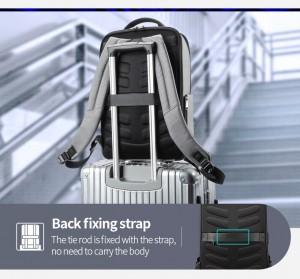 Городской рюкзак BOPAI 61-68118 легко фиксируется на ручке чемодана