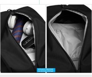 Рюкзак для путешествий Ozuko. Фото дополнительного переднего отделения