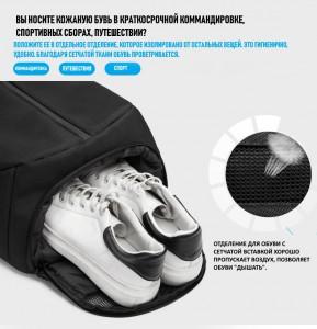 Рюкзак ozuko 9080 фото отделения для обуви
