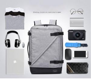 фото объема вещей, помещающихся в Рюкзак для ноутбука 17