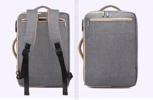 лямки прячутся в карман на спинке рюкзака антивор для ноутбука 17
