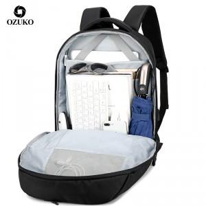 рюкзак ozuko 9200 черный внутреннее отделение