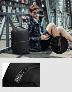рюкзак ozuko 9200 черный фото на модели