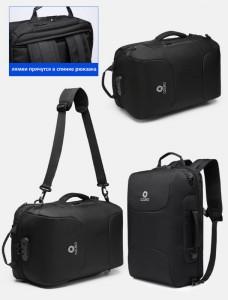 Сумка-рюкзак ozuko 9225 черная