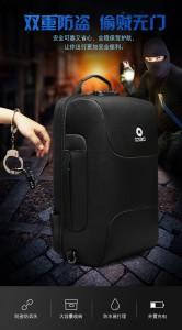 металлический тросик с металлическим замком рюкзак ozuko 9225