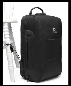 двойная защита рюкзака ozuko 9225: кодовый замок и металлический тросик с замком