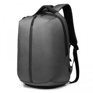 рюкзак ozuko 9080 серый вид сбоку