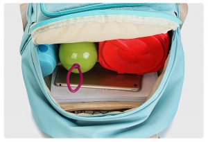 рюкзак для мамы и малыша BAORDAI IP177 голубой фото с детскими вещами