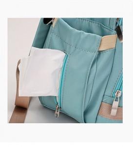 Боковые кармашки на молнии для салфеток Рюкзак для мамы и малыша BAORDAI IP177 голубой