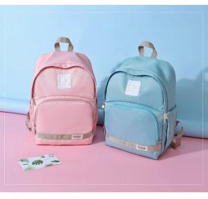 Рюкзак для мамы и малыша BAORDAI IP177 голубой и розовый в сравнении