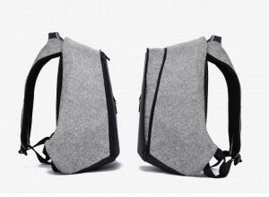 Рюкзак антивор для ноутбука 15.6 дюймов TUGUAN TG1758 серый увеличивающимся объемом