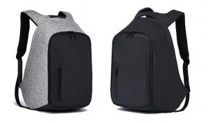 Рюкзак антивор TUGUAN  TG1758 серый и черный фото в сравнении