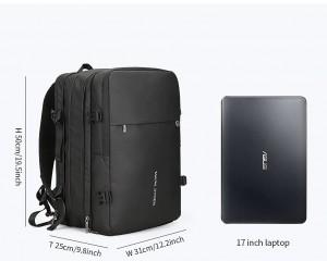 Рюкзак дорожный Mark Ryden MR8057 черный размеры рюкзака, ноутбук 17 дюймов
