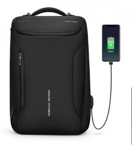 Рюкзак дорожный Mark Ryden MR9031 черный 2 отделения с USB разъемом