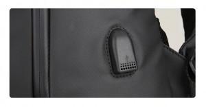 Рюкзак дорожный Mark Ryden MR9031 черный 2 отделения USB разъем