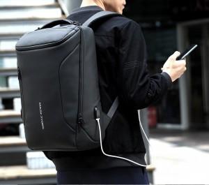 Рюкзак дорожный Mark Ryden MR9031 черный 2 отделения USB разъем фото на модели