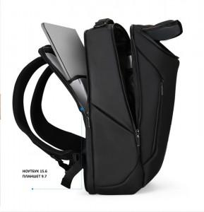 фото рюкзак дорожный Mark Ryden MR9031 черный 3 отделения вмещает ноутбук до 17.3 дюйма