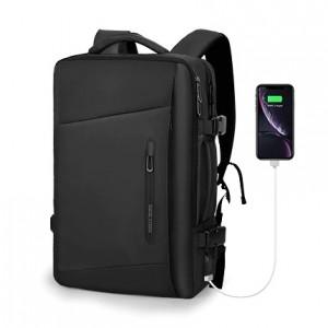 Рюкзак дорожный Mark Ryden MR9299 regular черный фото с USB разъемом