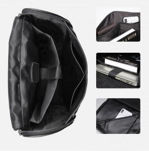 Рюкзак мужской кожаный J.M.D. G-7344А-1 черный фото основного отделения, кармашков