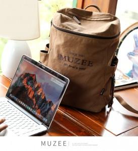 Холщовый рюкзак Muzee ME_1189 бежевый, в домашней обстановке фото 2