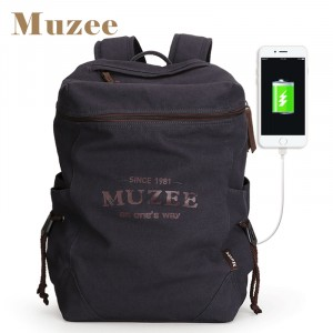 Холщовый рюкзак Muzee ME_1189 синий
