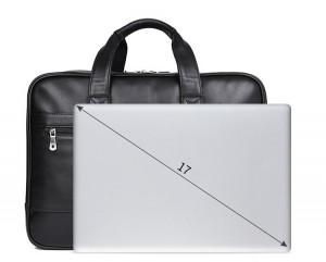 Кожаная мужская деловая сумка J.M.D. 7319A по сравнению с ноутбуком 17.3 дюйма