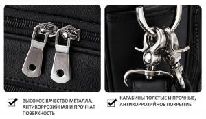 Кожаная сумка для ноутбука 17.3, фурнитура, детали фото 1