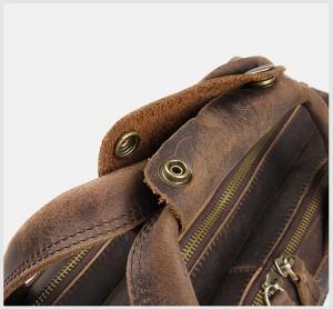 Мужская сумка для ноутбука 15.6 J.M.D. 7388R коричневая, фиксатор для ручек