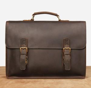 Винтажный мужской портфель J.M.D. 7223 коричневый