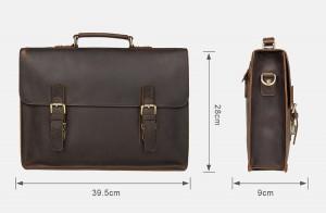 Винтажный мужской портфель J.M.D. 7223 коричневый, размеры изделия