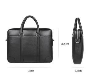 Кожаная мужская сумка J.M.D. черная 7400A, размеры сумки