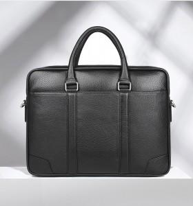 Кожаная мужская сумка J.M.D. черная 7400A главное фото