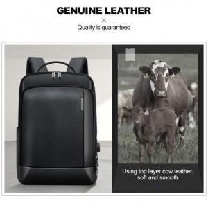 Мужской кожаный рюкзак BOPAI 851-036511 - сделан из натуральной кожи