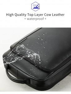Мужской кожаный рюкзак BOPAI 851-036511, водоотталкивающая пропитка натуральной кожи