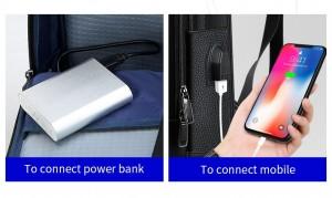 Рюкзак для ноутбука 15.6 Bopai 851-036511, фото USB разъема