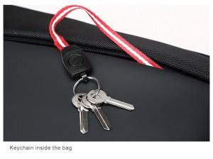 Деловой мужской рюкзак BOPAI 61-2311 черный, фото брелка для ключей