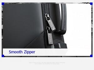 Деловой мужской рюкзак BOPAI 61-2311 черный усиленные замки и молнии, фото крупным планом