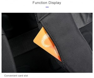 Деловой мужской рюкзак BOPAI 61-2311 черный фото слота для проездных карт крупным планом