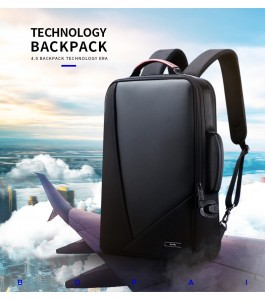 Деловой мужской рюкзак BOPAI 61-2311 черный и идеальный вариант для путешествий