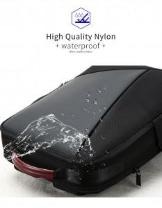 Деловой мужской рюкзак BOPAI 61-2311 черный, водонепроницаемая ткань