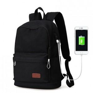 Холщовый рюкзак Muzee ME0710CD черный, лицевая сторона