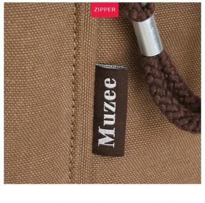 Холщовый рюкзак Muzee ME0710CD, фурнитура крупным планом