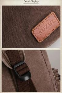 Холщовый рюкзак Muzee унисекс ME0710CD, фурнитура и детали крупным планом