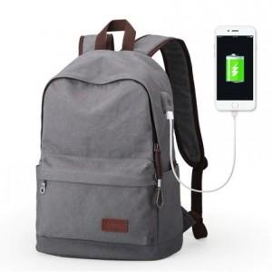 Холщовый рюкзак Muzee ME0710CD серый, главное фото